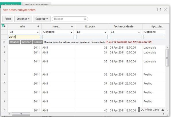 13 filtros tabla resumen